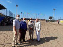 گزارش تصویری از بازدید امیر حسین محتشم از ورزشگاه ساحلی سیروس قایقران